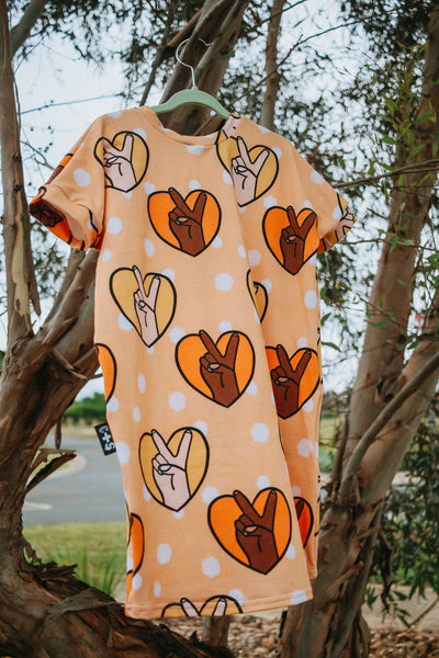 Peace T-shirt Dress Size 6