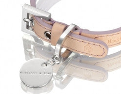 NATURAL LV LEATHER VIOLET COLLAR