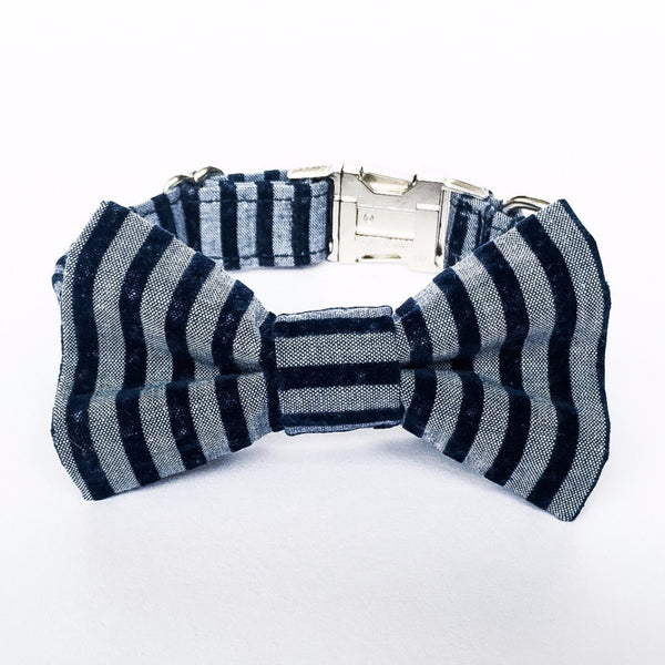 STRIPED BOW TIE COLLAR