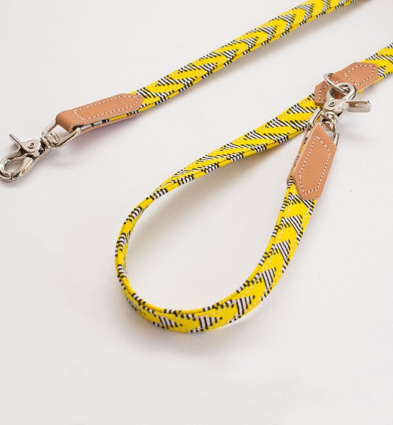 KITENGE YELLOW ZIG ZAG LEASH