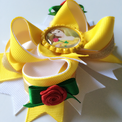 Princess Belle Hair Bow