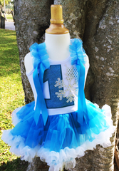 Ice Princess Birthday tutu dress