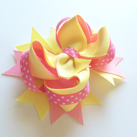 Pink Lemonade Hair Bow