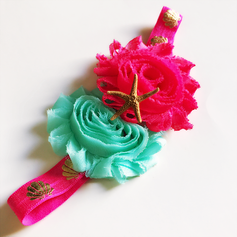 Hot Pink Mermaid Headband
