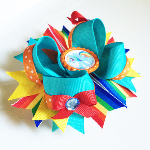 Rainbow Dash Hair Bow