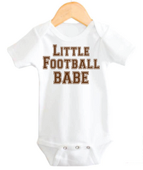 Football Baby Girl Onesie