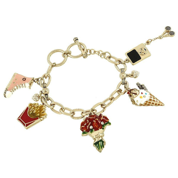 "*[B/L]-Goldtone Fun Times Charm Bracelet - jewelz by julz...""The Collection!"""