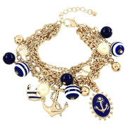 "*[B/L]-Navy Nautical Embellished Charm Bracelet - jewelz by julz...""The Collection!"""