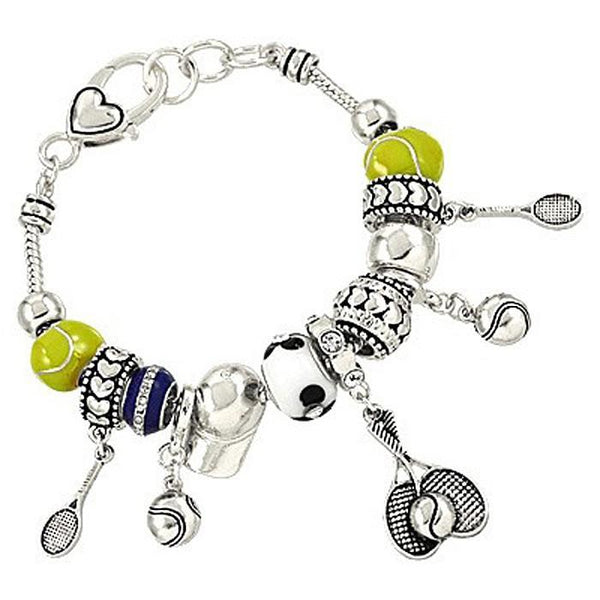 "*[B/L]-Metallic Tennis Charm Bracelet- 2 Options - jewelz by julz...""The Collection!"""