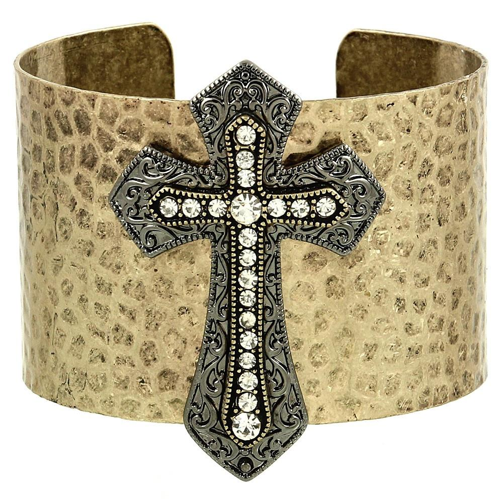 "*[B/L]-Vintage Cross Emblem Cuff Bangle - jewelz by julz...""The Collection!"""