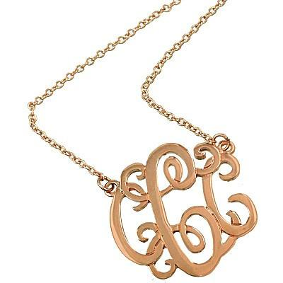 "*[N/L]-Monogram Necklace ~C~ Rosegoldtone - jewelz by julz...""The Collection!"""
