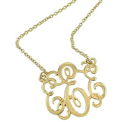 "*[N/L]-Monogram Necklace ~E~ Goldtone - jewelz by julz...""The Collection!"""