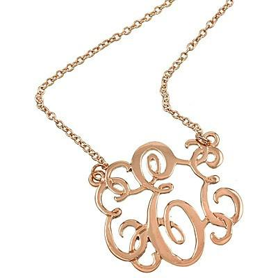 "*[N/L]-Monogram Necklace ~E~ RoseGoldtone - jewelz by julz...""The Collection!"""