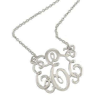 "*[N/L]-Monogram Necklace ~E~ Silvertone - jewelz by julz...""The Collection!"""
