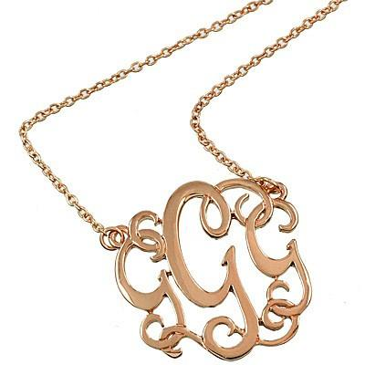 "*[N/L]-Monogram Necklace ~G~ RoseGoldtone - jewelz by julz...""The Collection!"""