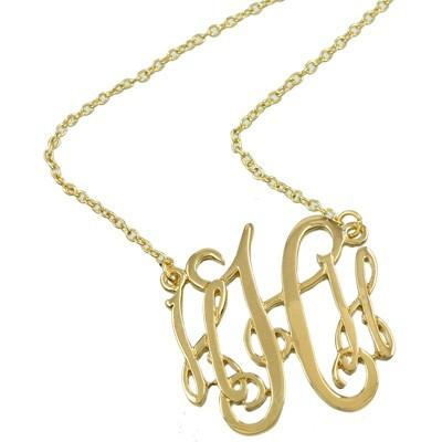 "*[N/L]-Monogram Necklace ~H~ Goldtone Finish - jewelz by julz...""The Collection!"""