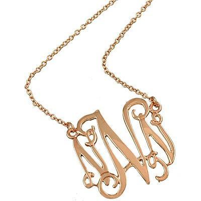 "*[N/L]-Monogram Necklace ~N~ RoseGold - jewelz by julz...""The Collection!"""