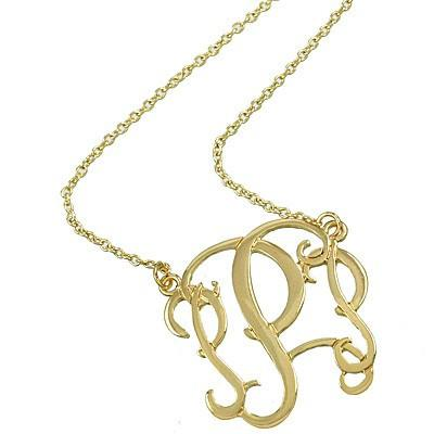 "*[N/L]-Monogram Necklace ~P~ Goldtone - jewelz by julz...""The Collection!"""