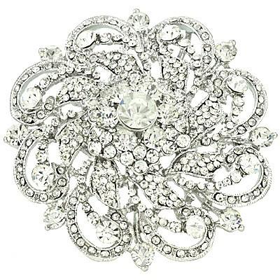 "*[BRC]-Round Rhinestone & Gems Brooch- Clear - jewelz by julz...""The Collection!"""