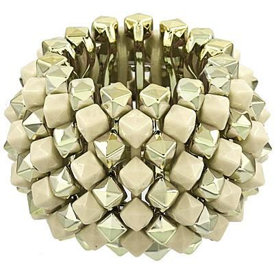 "*[B/L]-Goldtone & Ivory Cube Cluster Stretch Bracelet - jewelz by julz...""The Collection!"""