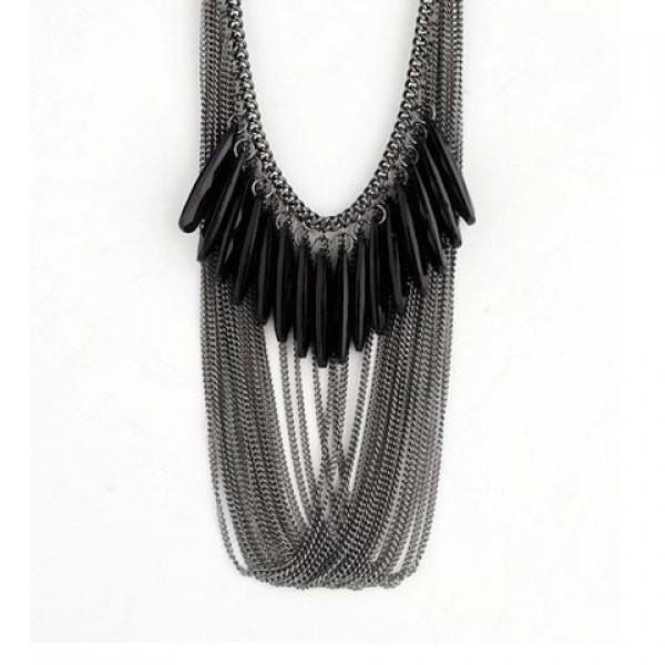 "*[N/L]-The Black Drape-Loop Multi-chain Necklace - jewelz by julz...""The Collection!"""