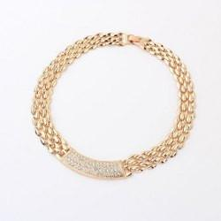 "*[N/L]-Modern Flat Link & Rhinestone Bar Choker Necklace- Goldtone - jewelz by julz...""The Collection!"""