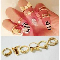 "*[R]-Goldtone 6 Pieces Midi Ring - jewelz by julz...""The Collection!"""