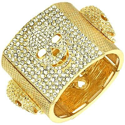 "*[B/L]-Goldtone Skull Embellished Cuff Bracelet - jewelz by julz...""The Collection!"""