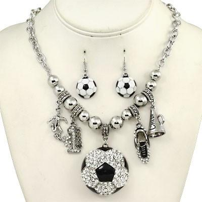 "*[N/LS]-Blinged Out Soccer Charm Necklace Set - jewelz by julz...""The Collection!"""