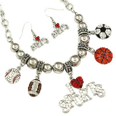 "*[N/LS]-The Sports Mom Ultimate Sport Necklace Set - jewelz by julz...""The Collection!"""