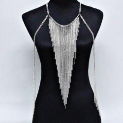 "*[B/J]-Silvertone Multi Layered Tassels Body Chain - jewelz by julz...""The Collection!"""