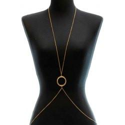 "*[B/J]-Goldtone Circle Pendant Body Chain - jewelz by julz...""The Collection!"""