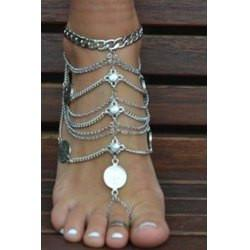 "*[ANK]-Silvertone Coin & Multi-Chain Foot Jewelry (Anklet) - jewelz by julz...""The Collection!"""