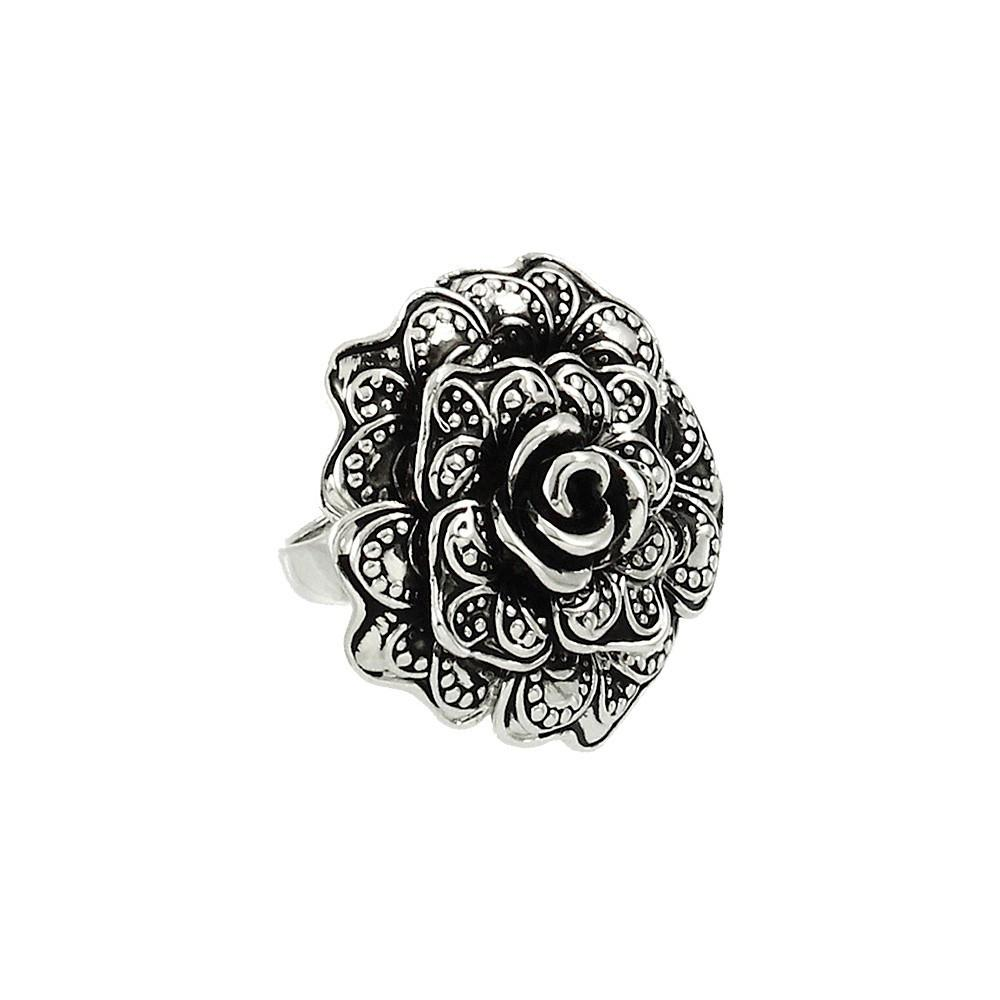 "*[R]-Antique Silver Flower Statement Ring - jewelz by julz...""The Collection!"""