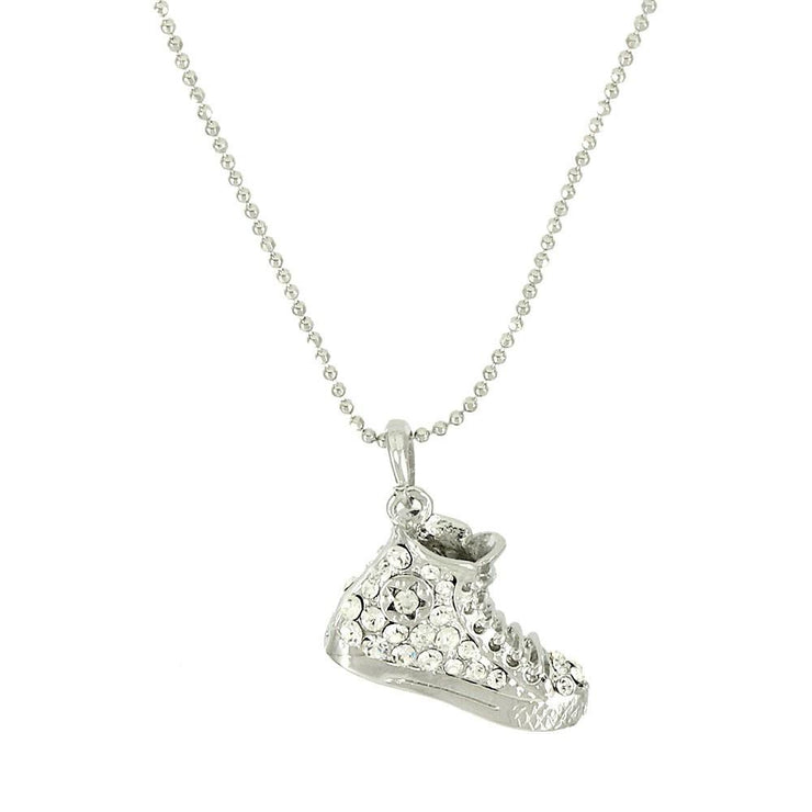 "*[N/L]-Blinged Out Hi-Top Sneaker Pendant Necklace - jewelz by julz...""The Collection!"""