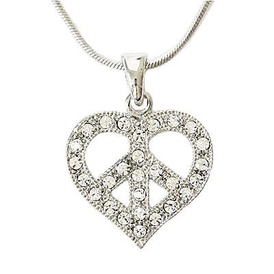 "*[N/L]-Peace & Love Heart  Pendant Necklace - jewelz by julz...""The Collection!"""
