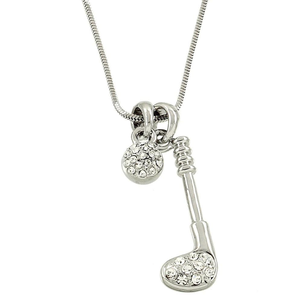 "*[N/L]-Silvertone Golf Charm Pendant Necklace - jewelz by julz...""The Collection!"""