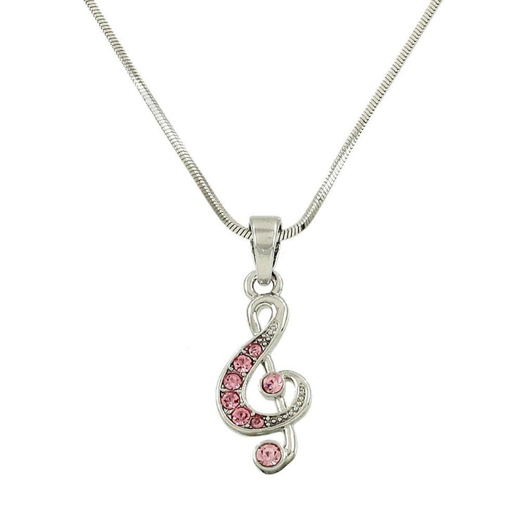 "*[MSC]-Pink Rhinestone Treble Cleff Charm Necklace - jewelz by julz...""The Collection!"""