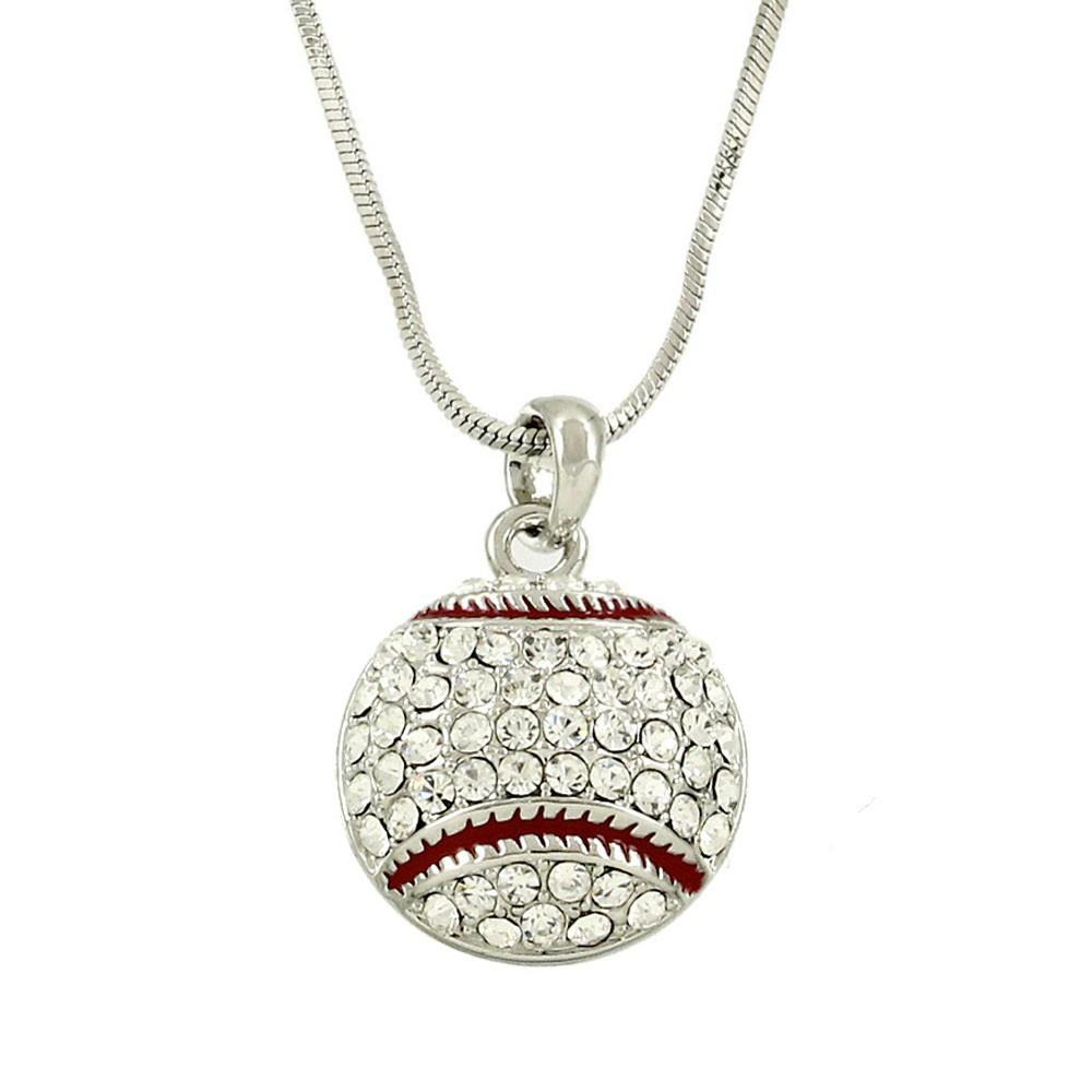 "*[N/L]-Rhinestone Baseball Pendant Necklace - jewelz by julz...""The Collection!"""