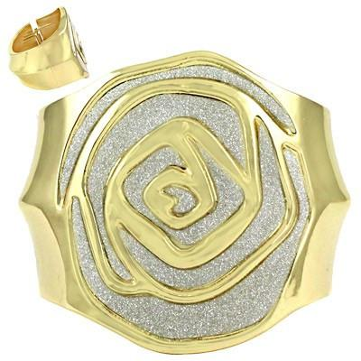 "*[B/L]-Gold Silver Rose Pattern Large Metal Bangle - jewelz by julz...""The Collection!"""