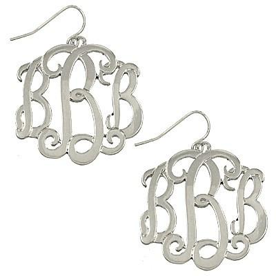 "*[E/R]-Monogram Earring-Silvertone ""B"" - jewelz by julz...""The Collection!"""