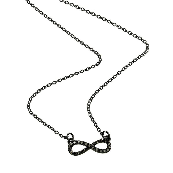 "*[N/L]-Black Infinity Pendant Necklace Fine - jewelz by julz...""The Collection!"""