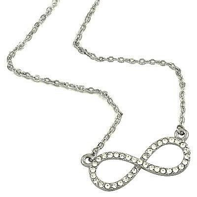 "*[N/L]-Crystal Infinity Pendant Necklace - jewelz by julz...""The Collection!"""