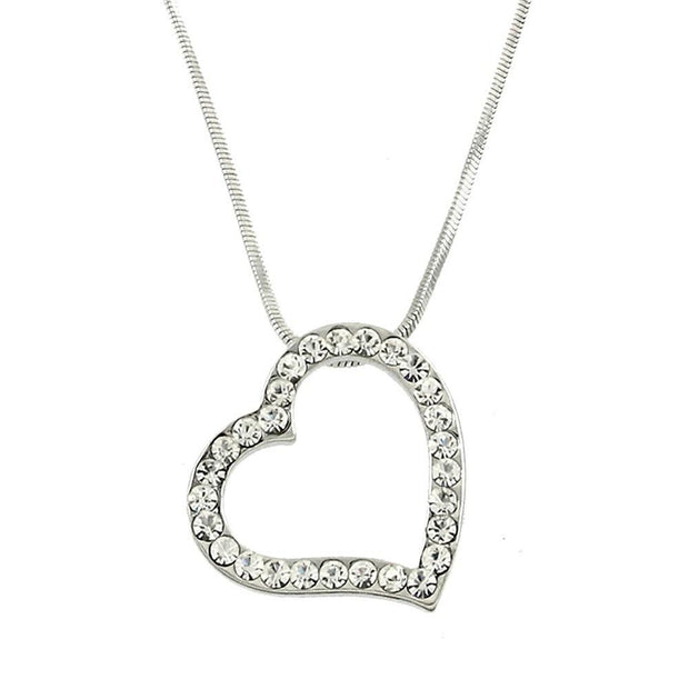 "*[N/L]-Crystal Open Heart Pendant - jewelz by julz...""The Collection!"""