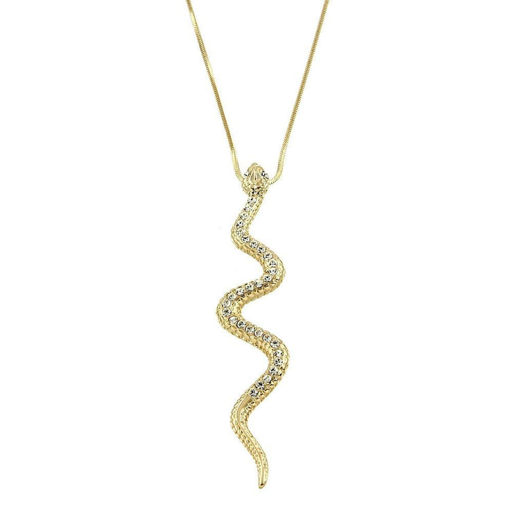 "*[N/L]-Gold Snake Pendant Necklace - jewelz by julz...""The Collection!"""