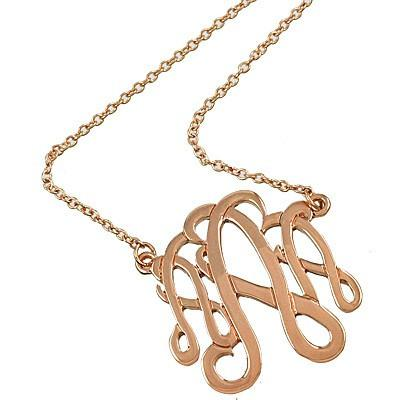 "*[N/L]-Monogram Necklace ~A~ Rosegold Finish - jewelz by julz...""The Collection!"""