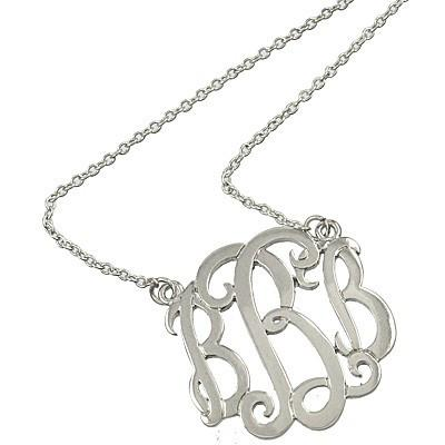 "*[N/L]-Monogram Necklace ~B~ Silvertone - jewelz by julz...""The Collection!"""