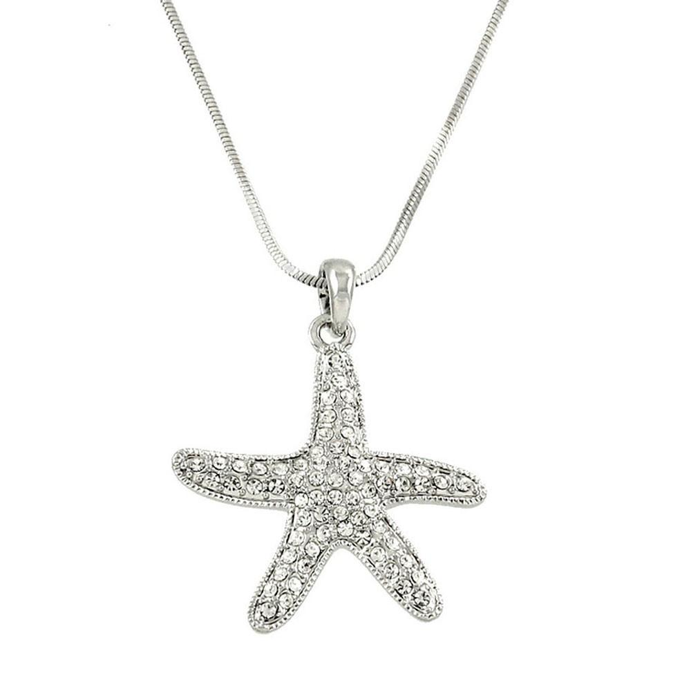 "*[N/L]-Rhinestone Star Fish Pendant Necklace - jewelz by julz...""The Collection!"""