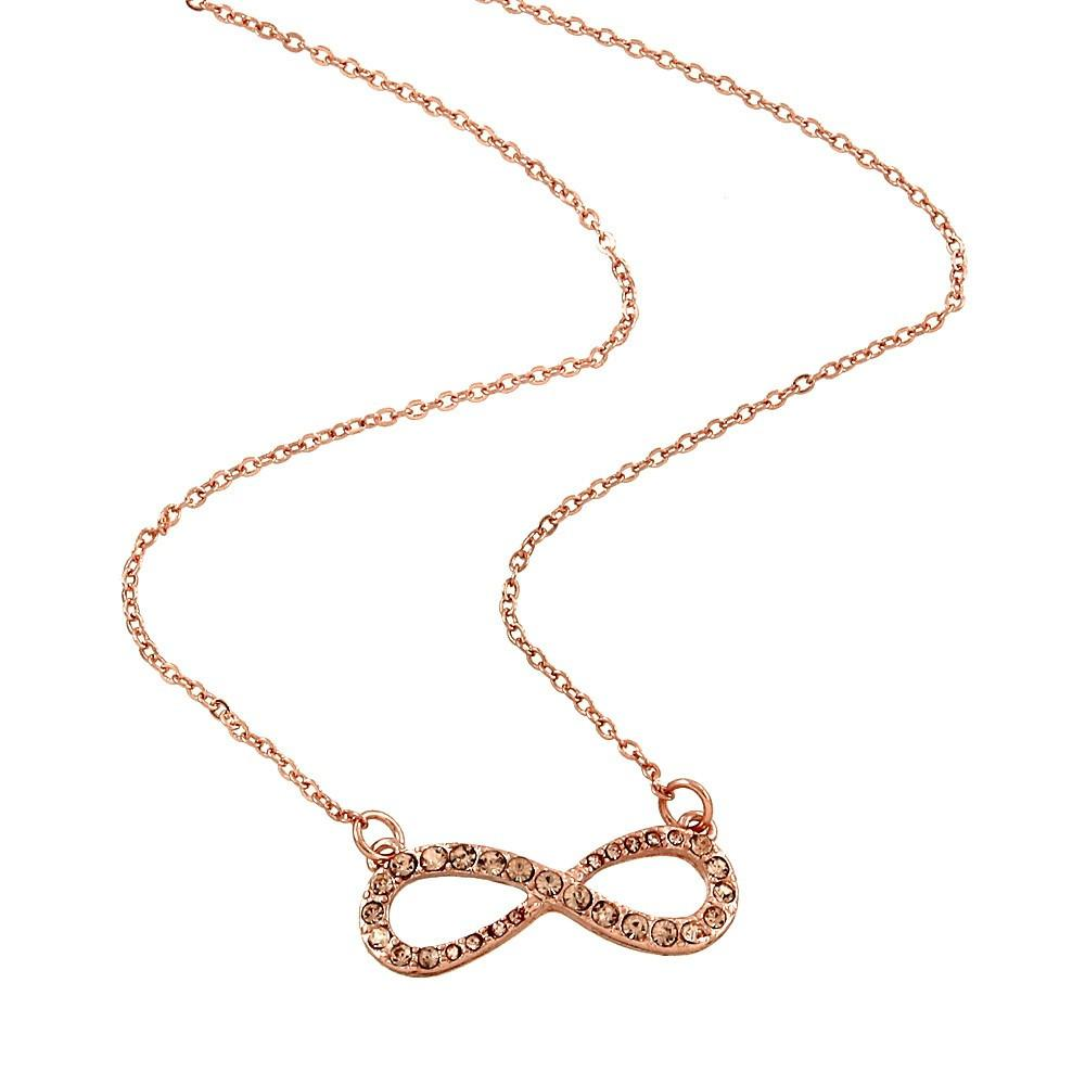 "*[N/L]-Crystal Lined Rosegold Finish Infinity Necklace - jewelz by julz...""The Collection!"""