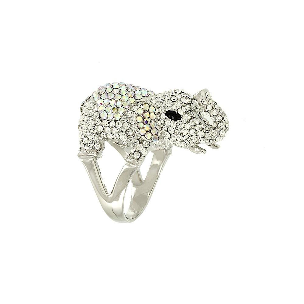 "*[R]-Silver Rhinestone Elephant Ring- 6 - jewelz by julz...""The Collection!"""